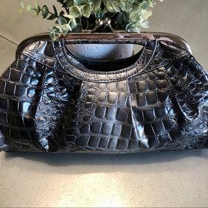 NWT-Metallic Animal Skin large clutch purse